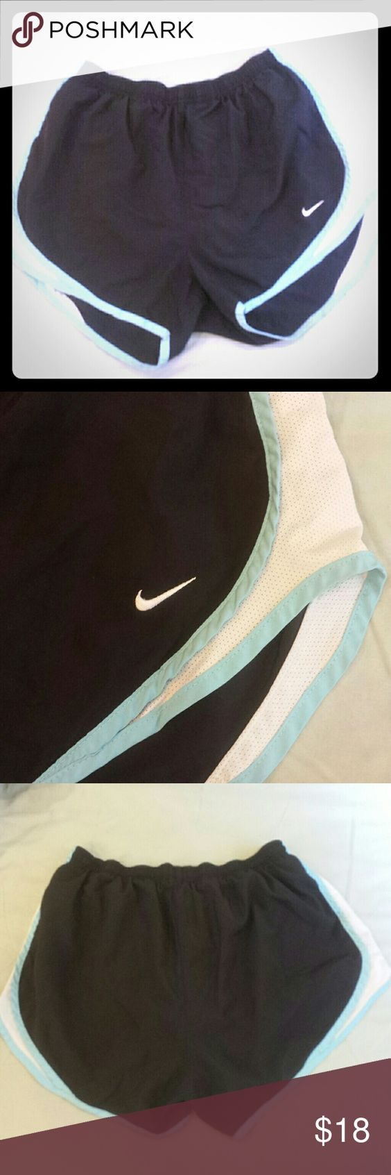 Nike Shorts! Black nike running shorts! Good condition, small ink stain on inside pocket. Inside lining is clean! These last forever!! Size medium! Nike Shorts
