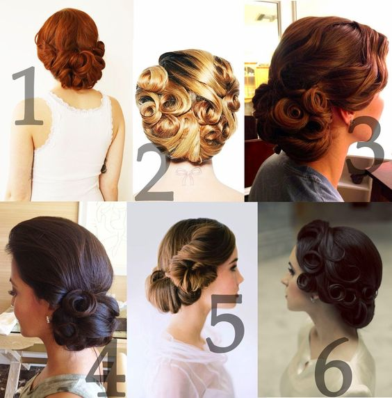 Vintage Updo Styles Pin Curls Loose From The Zoo