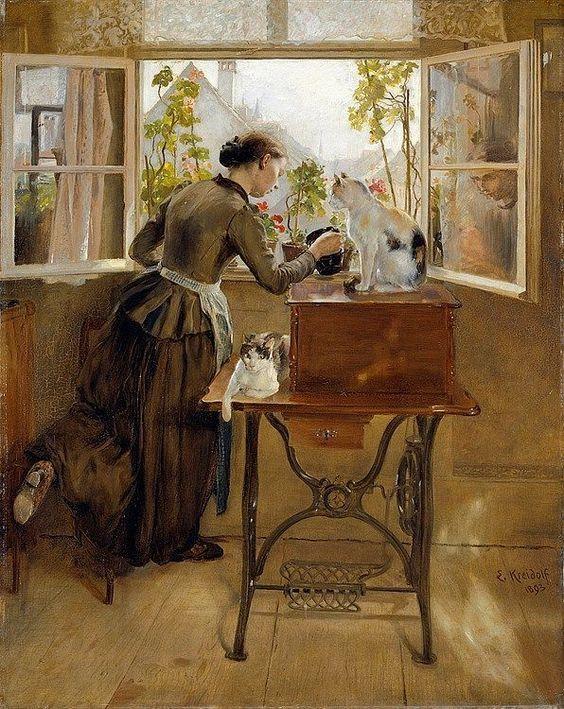 Morning Idyll ~ Ernst Kreidolf ~ (Swiss: 1863-1956):