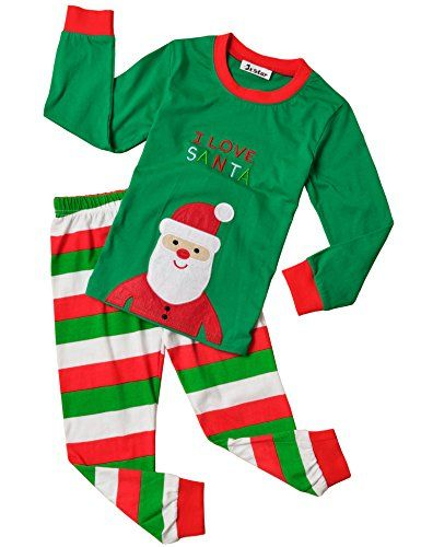 Jxstar Christmas Unisex Little Kids' Santa Cotton Sleepwear Pjs 5 130. Sizes for Girls ( 18M-6Y ) Years .(Please read detail size measurement in Product Description before purchase). Merry Christmas and Happy New Year!. Long sleeves and colorful cartoon pattern . Sleep set includes sleep tee and matching sleep bottoms. Christmas seasonal prop / costume / sleepwear for unisex kids .