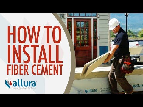 How To Install Fiber Cement Siding Allura Usa Youtube Fiber Cement Siding Installation Concrete Siding Fiber Cement Siding