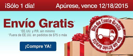 ¡¡¡SOLO POR HOY ENVÍO INTERNACIONAL GRATIS!!!  FUERA DE EEUU Y PR en pedidos de 75$ o más  EN EEUU Y PR sin mínimos http://es.puritan.com/?scid=29138