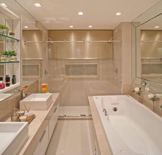 decoracao banheiro travertino:explore 20 banheiros banheiros grandes e muito mais arquitetura