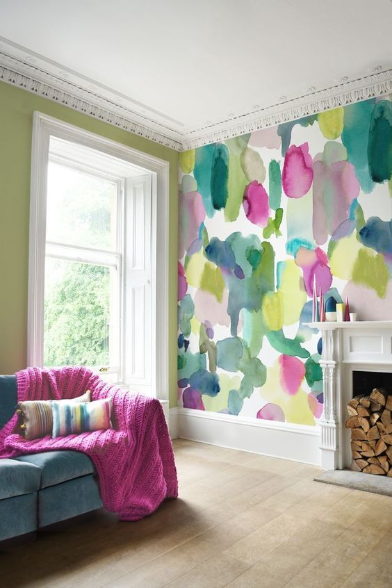 Creative Ways To Use Peel And Stick Wallpaper Design Asylum Blog By Kellie Smith Wallpaper Living Room Home Decor Wallpaper Fireplace