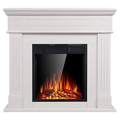 Electric Fireplace Inserts Freestanding Wood Heater Stone Mantel Electric Electric Fireplac In 2020 Freestanding Fireplace Fireplace Heater Electric Fireplace Heater