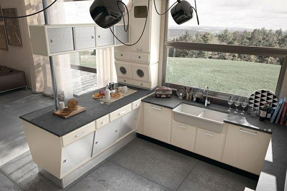 designer edelstahl küche von officine gullo im eleganten retro ...