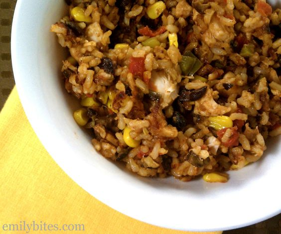 Emily Bites - Weight Watchers Friendly Recipes: Cheesy Amazing Mexi-Rice