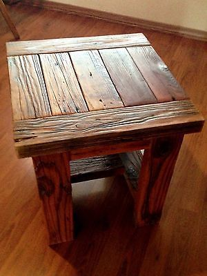 Small Square Coffee Table Or End Table Made With Reclaimed Wood Ebay Decorating House Ideas
