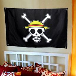 Brand your room with the One Piece pirate flag and set fear into ye who enter