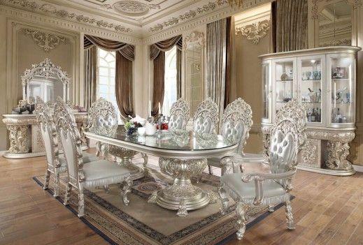 Hd 8088 Dining Set Homey Design Victorian European Classic