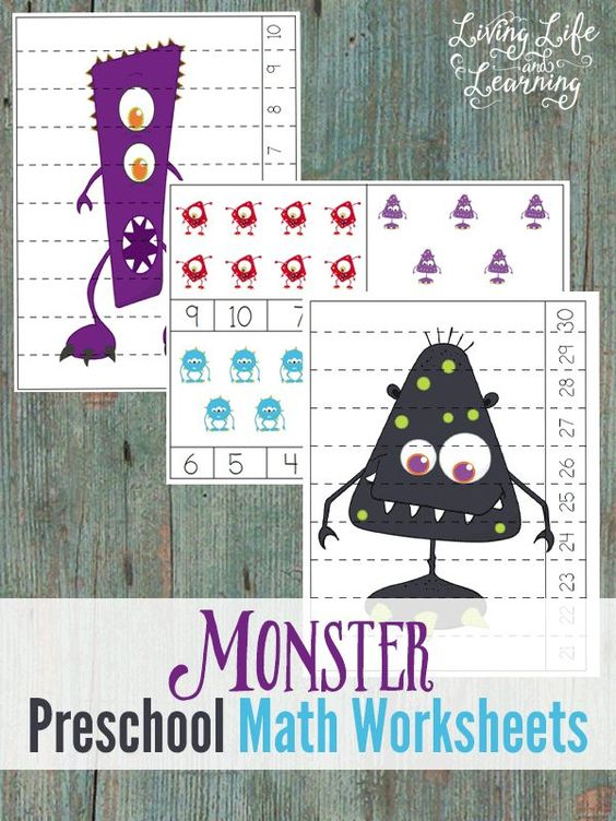 Fun monster counting cards and puzzles are a fun activity for toddler and preschoolers