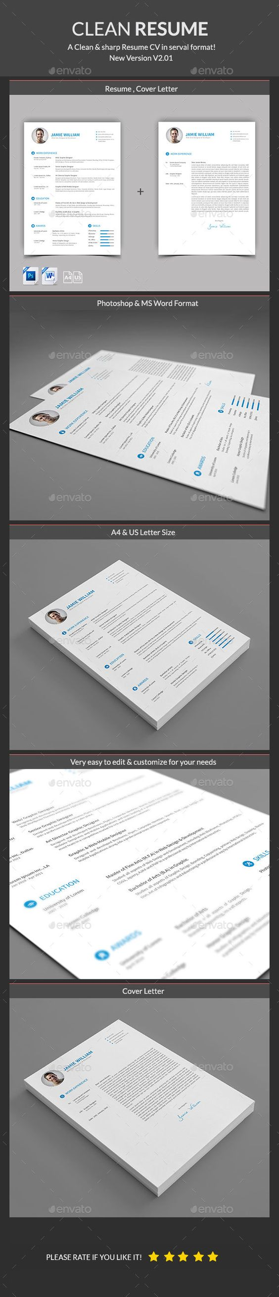 Clean Resume Download%0A Laurencia Blue Resume     pages  creativework      Resume samples    Pinterest   Template and Resume cv