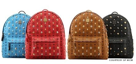MCM Leather Studded Backpack
