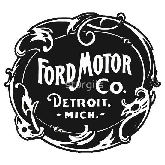 Vintage Ford Motor Company Logo Old School