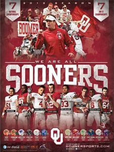 2012 Oklahoma Sooners OU Football Schedule Poster...the boy has been promised an OU themed bedroom