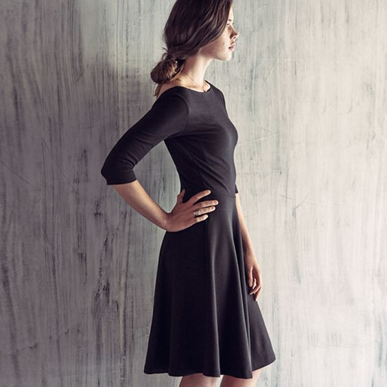 Your closet's secret weapon is an LBD. You can dress it up or down for any occasion.: Closet S Secret, Pintrest Closet, Model Closet, Dressy Skirtsy, Church Dresses, Closets, Outfit, Dressy Days