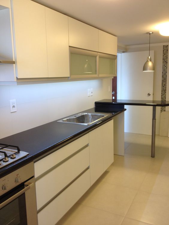 Grupo3 cocina blanca con tiradores de aluminio for Cocinas integrales en aluminio