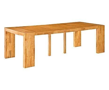 Mobilier malin table console madrid bois massif ch ne - Table hauteur 100 cm ...