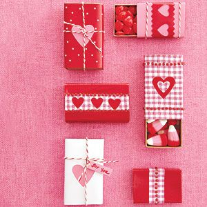 Pocket Presents Decorate matchboxes with romantic designs, then fill with Valentine's treats.
