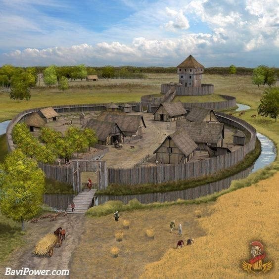 Artist Impression Motte Bailey Castle Medieval Castle Motte And Bailey Castle Castle