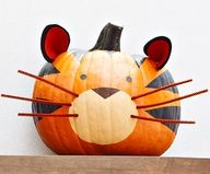 Tiger Halloween Pumpkin :)
