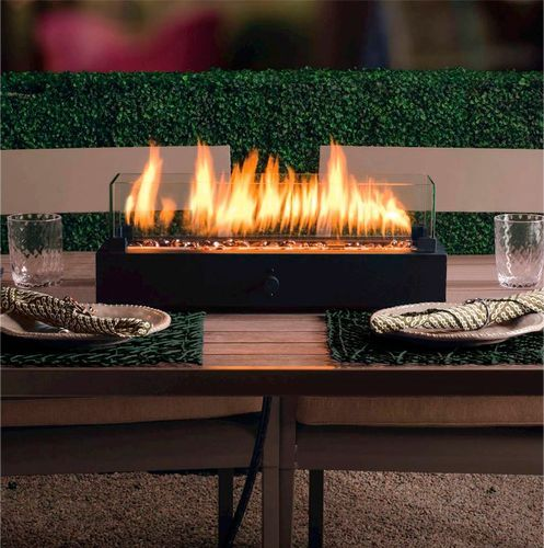 Best Buy Bond Lara Tablefire Matte Black 50857a Tabletop Firepit Tabletop Fire Bowl Outdoor Fire Pit Table top propane fire bowl