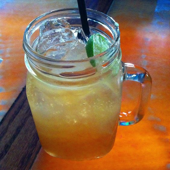 ... Amaretto, pure cane syrup, lime juice, topped with Angry Orchard Crisp