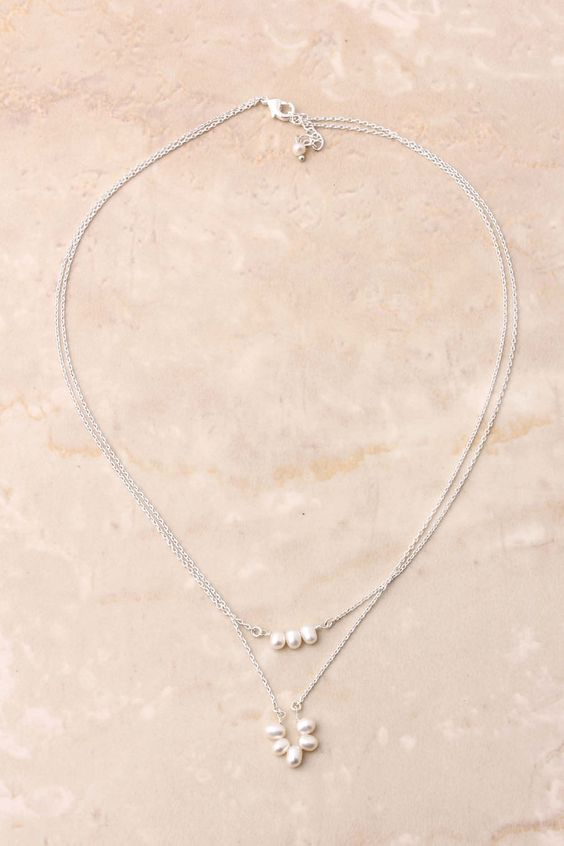 Layered Freshwater Pearl Necklace | so delicate and feminine