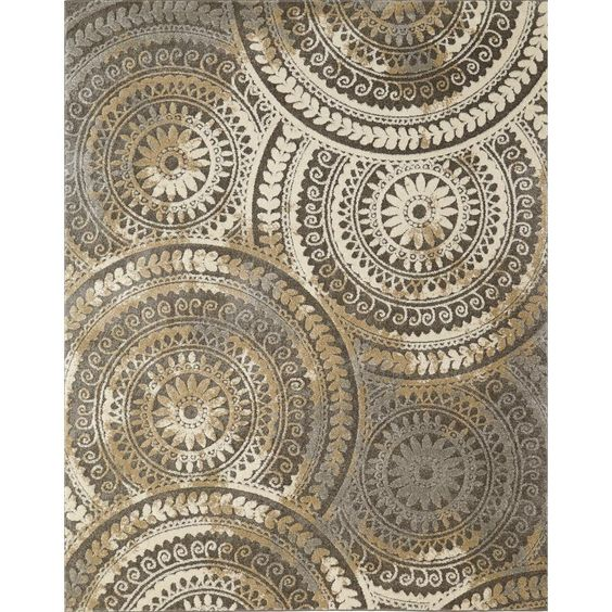 Home Decorators Collection Spiral Medallion Cool Gray 8 Ft X 10 Ft Tones Area Rug 25367 The Home Depot In 2020 Geometric Area Rug Area Rugs Home Decorators Collection