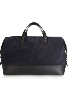 Tomas Maier Suede and leather weekend bag | NET-A-PORTER