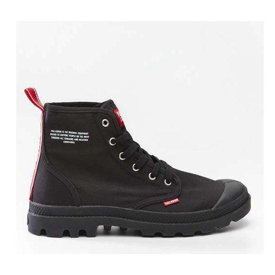 Damskie Palladium Palladium Pampa Hi Dare 008 Black Boots Hiking Boots Shoes