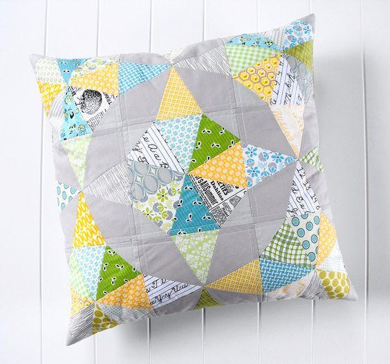 Kaleidoscope pillow by Angela - Fussy Cut, via Flickr