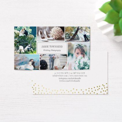 Gold dots photo collage professional photographer business card gold dots photo collage professional photographer business card elegant wedding gifts diy accessories ideas elegant wedding pinterest gold weddings solutioingenieria Images