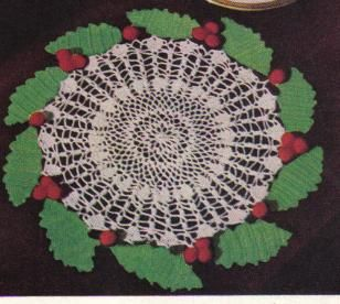 free crochet Christmas doily patterns