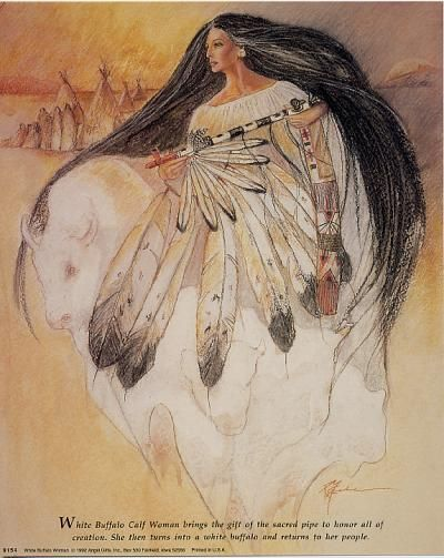 White Buffalo Woman  for -ArtPrintsWorld.com