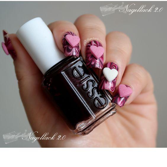 RainPow Nails: Candy Nails - Raspberry Marble