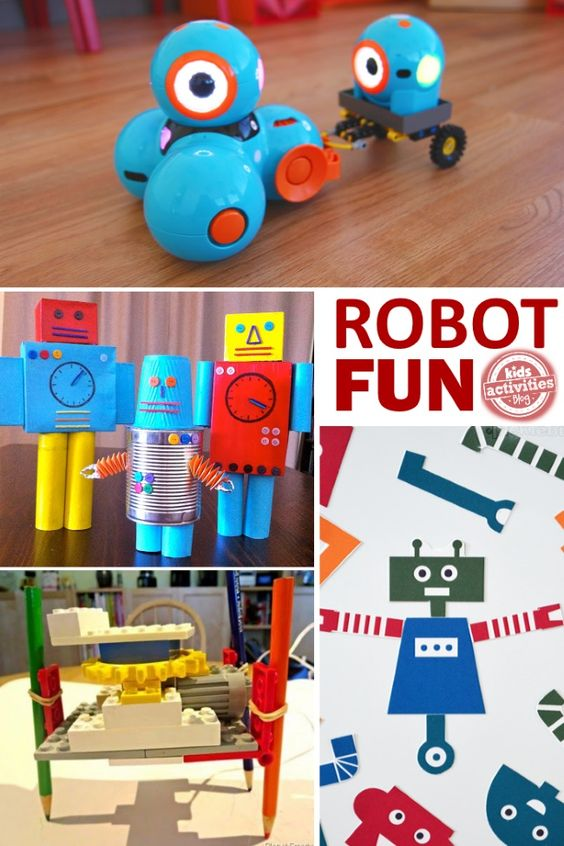 If your kids love exploring science and technology I bet they would love to explore robotics.  These are all robots that kids can make!: