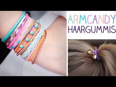 ▶ DIY Armcandy Haargummis - Haarbänder, die zu allem passen! - YouTube
