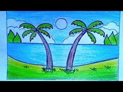 كيفية رسم منظر طبيعي سهل جدا بالقلم الرصاص تعليم الرسم خطوة بخطوة Youtube Landscape Drawings Nature Drawing Scenery Drawing For Kids