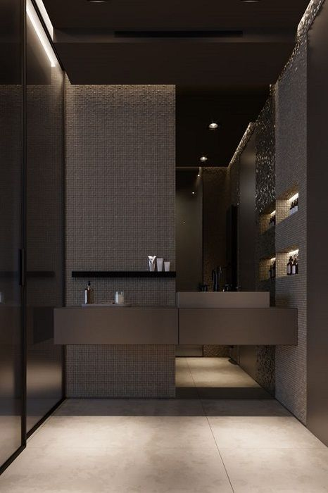 Find Out The Dark Bathroom Design Ideas Tips Nel 2020 Bagni