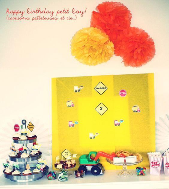 Anniversaire petit garçon 2 ans - Construction theme birthday party