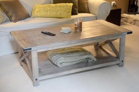 Rustic X Coffee Table With Bread Boards Do It Yourself Home Projects