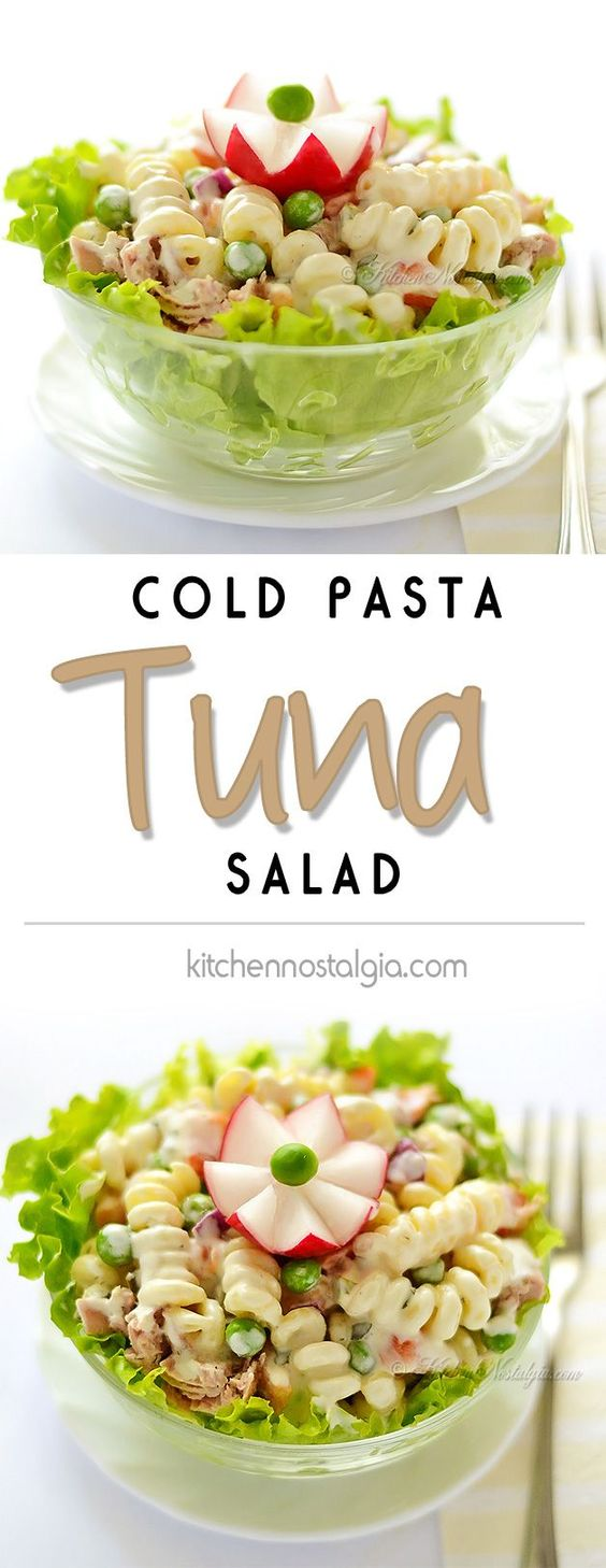 Cold pasta tuna salad and tuna on pinterest Pasta salad recipe cold