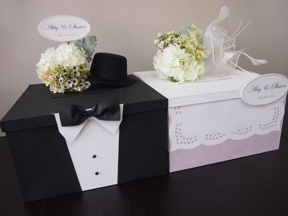 Wedding Gifts For A Bride: Wedding Money Gifts, Card Boxes And Gift Card Boxes On
