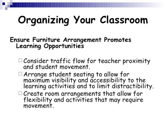 It Is Always Best To Have A Classroom Management Plan To Hold