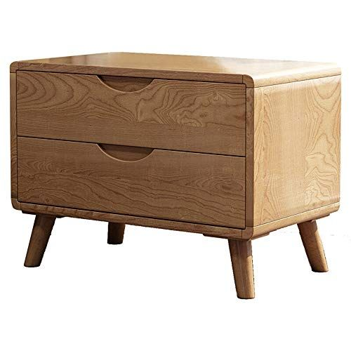 Bedside Tables Classic Style Nightstand Bedside Table Japanese Ash Storage Side Cabinet Double Drawer Classic Bedside Tables Bedroom Night Stands Side Cabinet