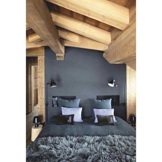 Inspi bedroom  #love #interior #interieur #deco #decoration #home #bedroom #chambre #grange #bois #wood #scandinave #scandinavian #cocoon #cosy
