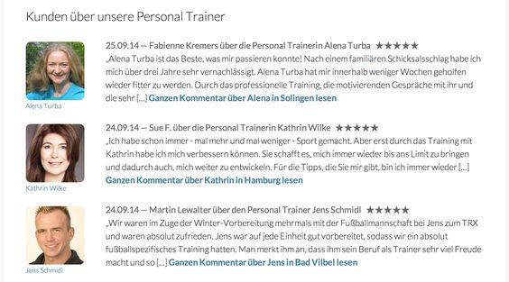 Mit der guten Laune unserer aktuellen Personal Trainer Kundenbewertungen verabschieden wir uns ins Wochenende - und wünschen euch ein schönes!  Noch mehr Kundenstimmen gibt hier: http://www.personalfitness.de/suche/reviews.php #personalfitness #personaltraining #kundenbewertung