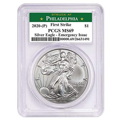 2020 P Struck At Philadelphia American Eagle Silver Coin 1 Oz 999 Fine Silver 1 Pcgs Ms69 First Strike Ne In 2020 Silver Eagles Silver Bullion American Silver Eagle