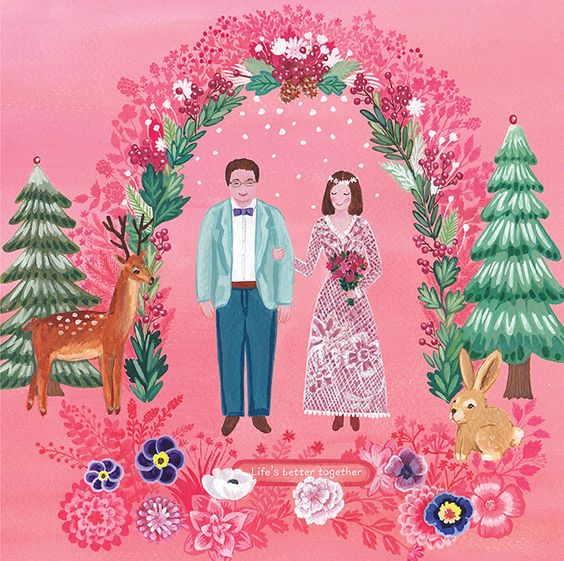save the date!! happy wedding & christmas card
